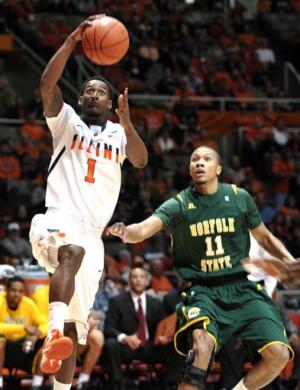 No. 10 Illinois beats Norfolk St., improve to 11-0