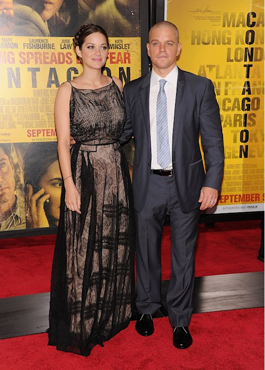 Contagion NY Premiere 2011 Marion Cotillard Matt Damon
