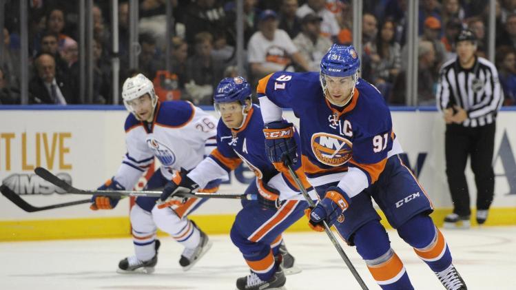 Islanders overcome Hall, Oilers in 3-2 home win