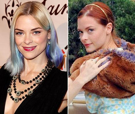 Jaime King Ditches Blue Hair, Goes Red