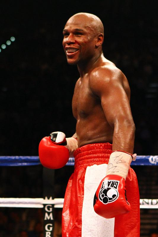 Floyd Mayweather Jr. Smiles Getty Images