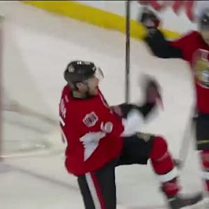 Bobby Ryan scores off the dish from Turris