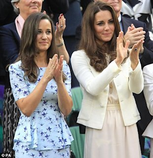 Las hermanas Middleton via Daily Mail