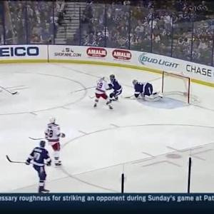 Ben Bishop Save on Marc Staal (03:50/2nd)