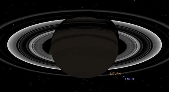 Earthlings Wave at Saturn as NASA Probe Snaps Earth's Photo