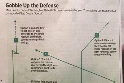 Mike Leach drew up a play to help you destroy your Turkey Bowl rivals