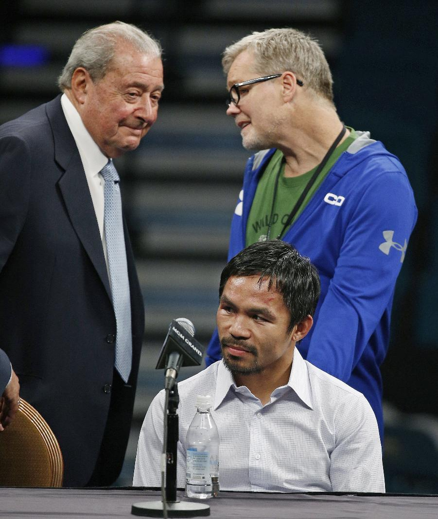 Pacquiao could face disciplinary action for shoulder