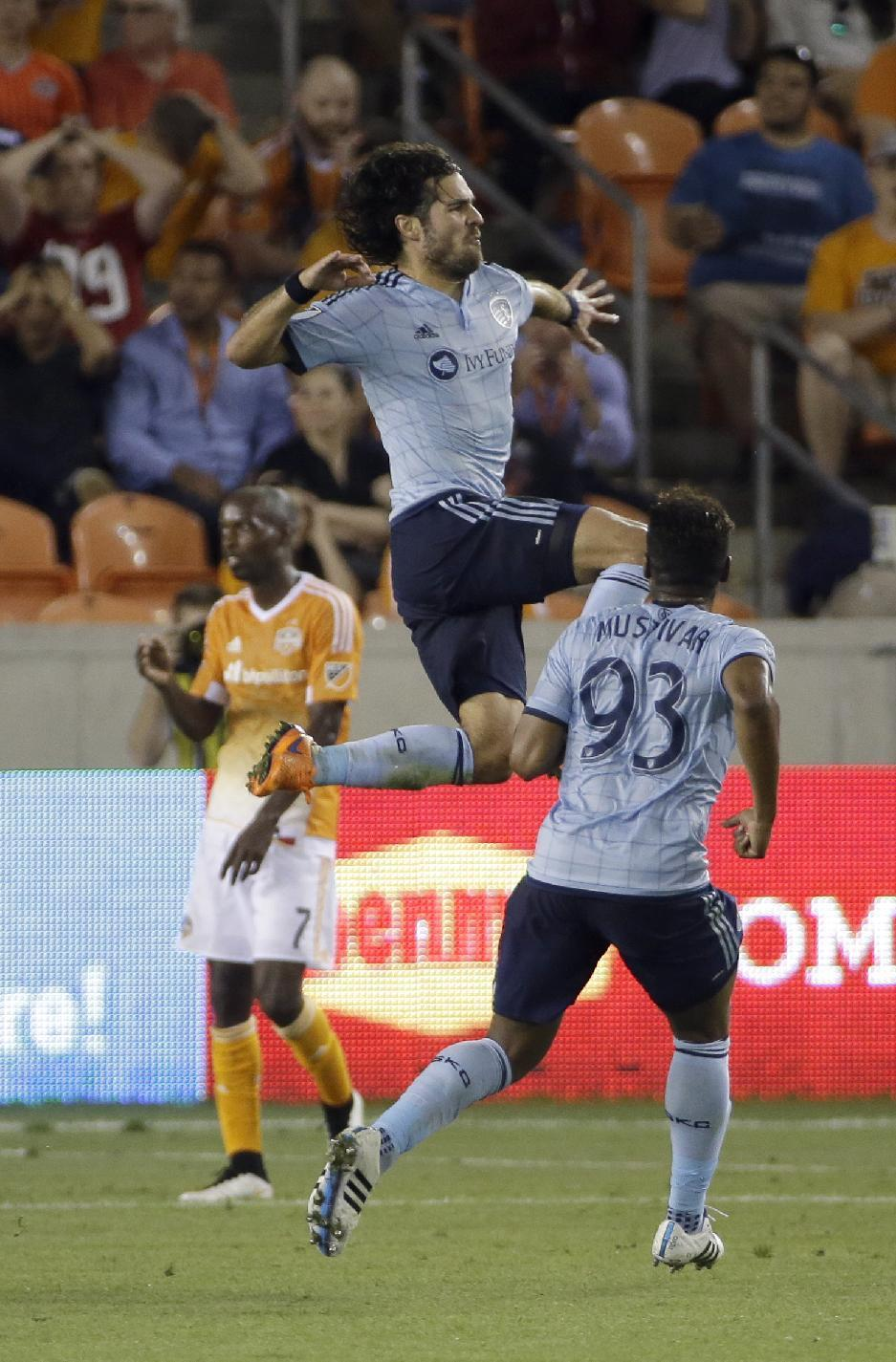 Feilhaber scores in stoppage time; Sporting KC ties Houston
