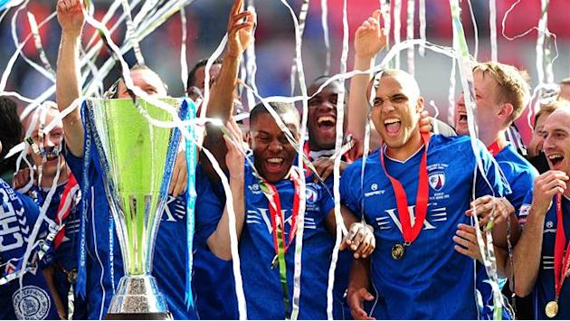 Chesterfield oust Swindon to win Trophy at Wembley