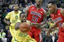Oregon upsets No. 3 Arizona 64-57