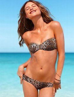 Beach Sexy Bandeau Top in Leopard