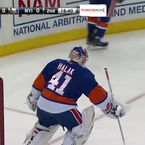 Jaroslav Halak Save on Pierre-Edouard Bellemare (03:20/2nd)