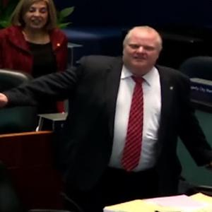 Toronto Mayor Rob Ford dances in city council chambers