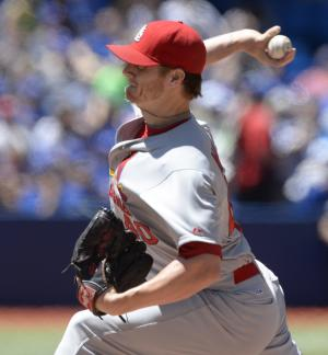 Miller pitches 3-hitter, Cardinals beat Blue Jays