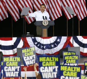 FILE - In this Sept. 7, 2009, file photo President Barack Obama speaks at the AFL-CIO Labor Day picnic at Coney Island in Cincinnati. Some labor unions that initially backed Obama's health care overhaul are now frustrated and angry about what they say are unexpected consequences of the plan that could hurt their members.  (AP Photo/David Kohl, File)