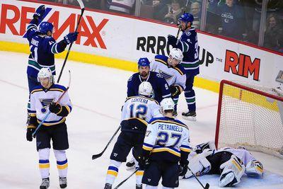 NHL scores 2015: Canucks survive Blues rally, Ovechkin takes points lead