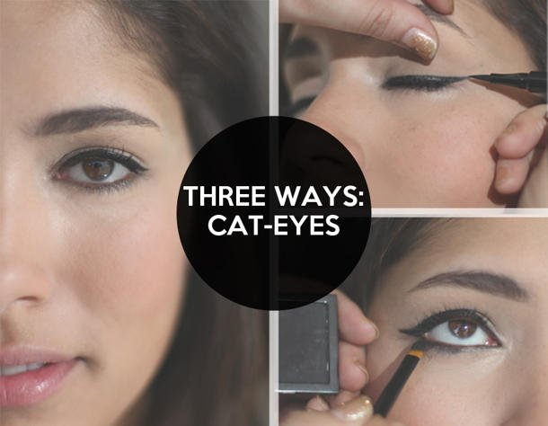 Three ways to do cat eye looks