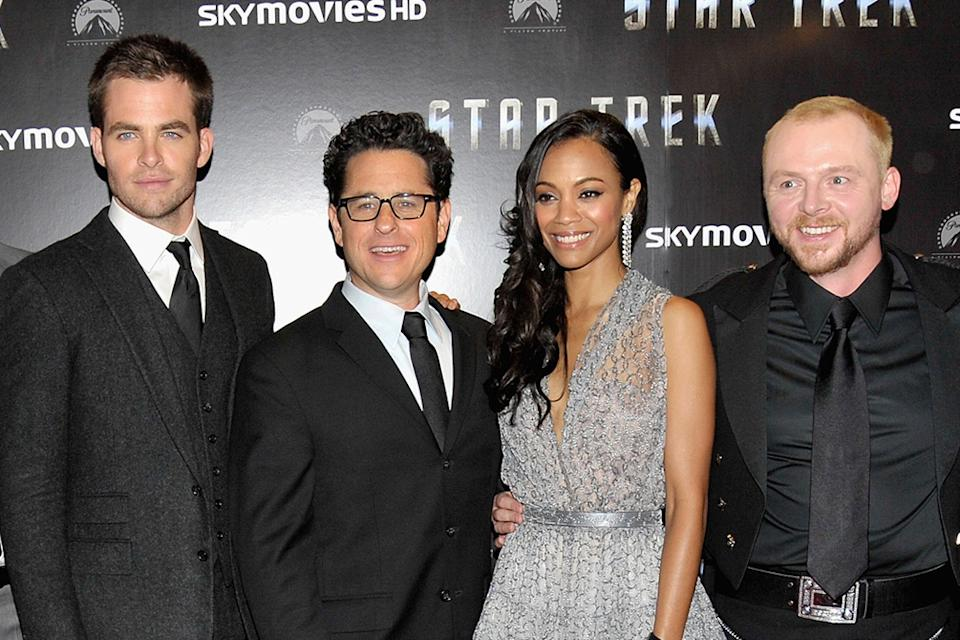 Star Trek UK Premiere 2009 Chris Pine JJ Abrams Zoe Saldana Simon Pegg