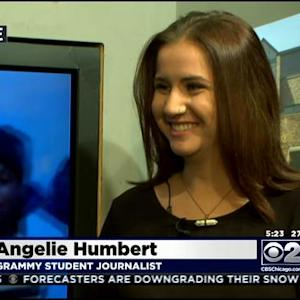 Geneva Teen Covering Grammys For Her School