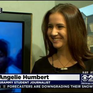 Geneva Teen Covering Grammys For Her School