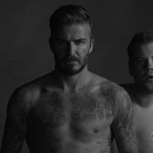 Corden Premieres David Beckham's New Underwear Commercial