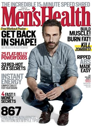 Andrew Lincoln on the cover of Men's Health (October 2012) -- Men's Health