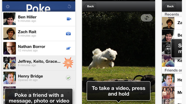 Facebook's SnapChat-Style Sexting App Is Called Poke (Seriously)