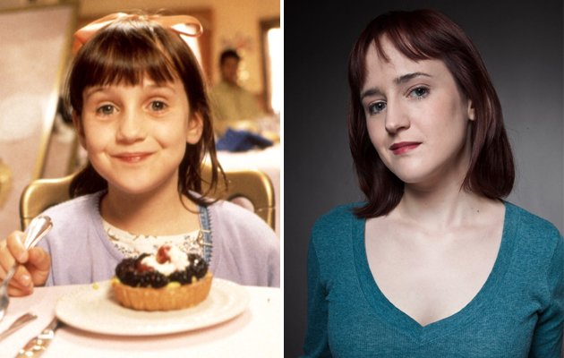 Mara Wilson in Matilda and present day (Copyright: REX & Mara Wilson
