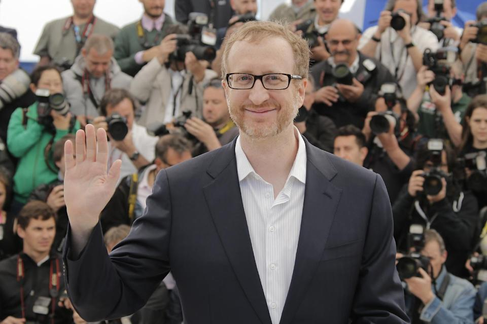 Director James Gray gestures as he poses for photographers during a photo call for the film The Immigrant at the 66th international film festival, in Cannes, southern France, Friday, May 24, 2013. (AP Photo/Francois Mori)