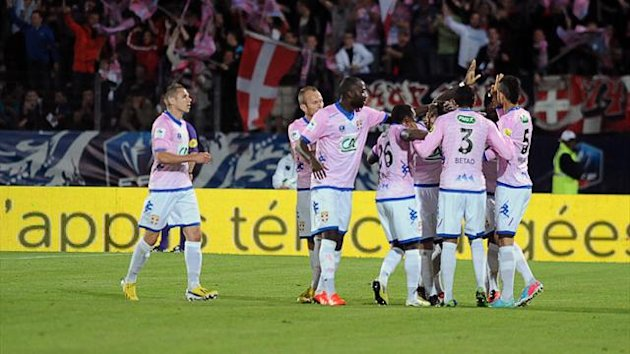 Evian players celebrate (AFP)