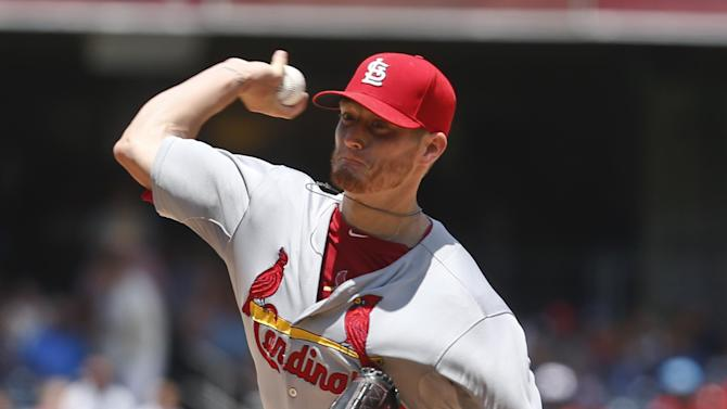 Emotional Miller pitches Cards past Padres, 6-2