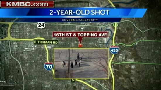 Police seek 3 in toddler's shooting