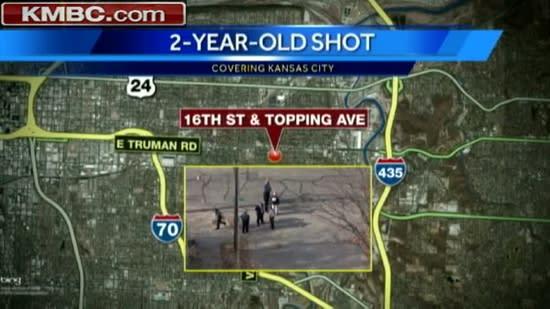 Police seek 3 in toddler's shooting