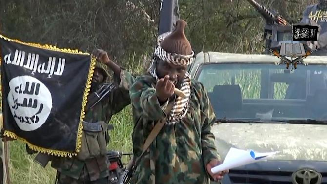 A screengrab taken on October 2, 2014 from a video released by the Nigerian Islamist extremist group Boko Haram and obtained by AFP shows the leader of the Nigerian Islamist extremist group Boko Haram, Abubakar Shekau