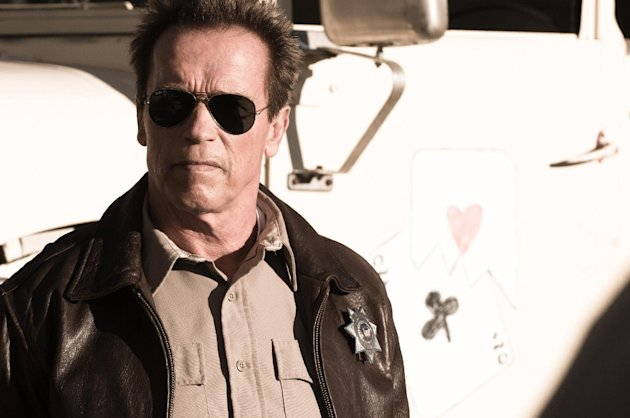 FILE - This publicity film image released by Lionsgate shows Arnold Schwarzenegger in a scene from, &quot;The Last Stand.&quot; (AP Photo/Lionsgate, Merrick Morton, File)