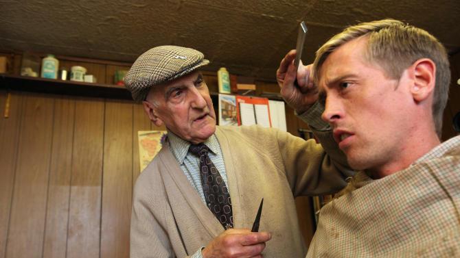 Peter Crouch Meets Riot Affected Barber Aaron Biber In His Shop In Tottenham
