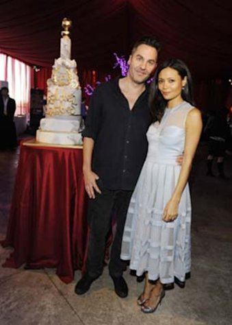 Thandie Newton and her husband Ol Parker take in the GBK Gift Lounge during Golden Globes weekend 2013.