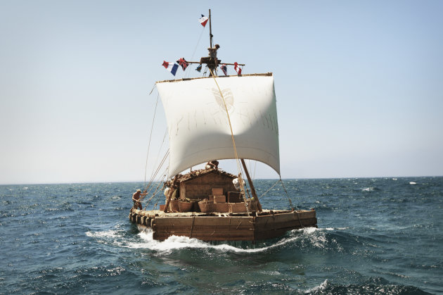 "This film image dated July 2011 made available by Nordisk Film Distribusjon AS on Thursday Jan 10 2103 shows a scene from the Norwegian film ""Kon-Tiki."" The film was nominated for an Academy Award for"