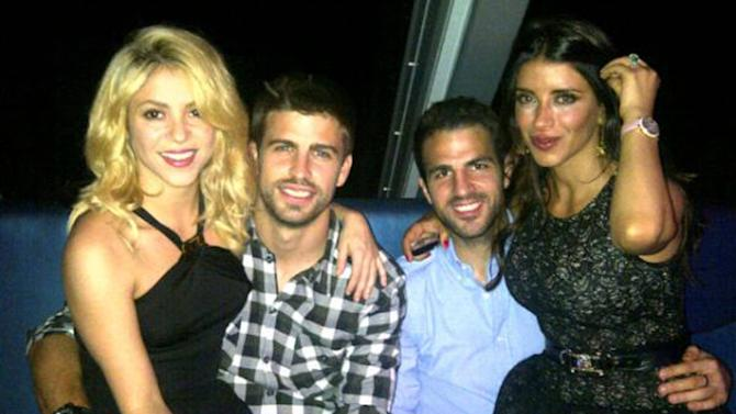 Gerard Piqueposed this image on Twitter of himself with Shakira, Cesc F�bregas and Daniella Semaan  with the caption 'Enjoying a great night!'Credit: Gerard Pique/TwitterSupplied by WENN.com(WENN does not claim any Copyright or License in the attached material. Any downloading fees charged by WENN are for WENN's services only, and do not, nor are they intended to, convey to the user any ownership of Copyright or License in the material. By publishing this material, the user expressly agrees to indemnify and to hold WENN harmless from any claims, demands, or causes of action arising out of or connected in any way with user's publication of the material.)