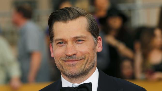Actor Nikolaj Coster-Waldau arrives at the 21st annual Screen Actors Guild Awards in Los Angeles