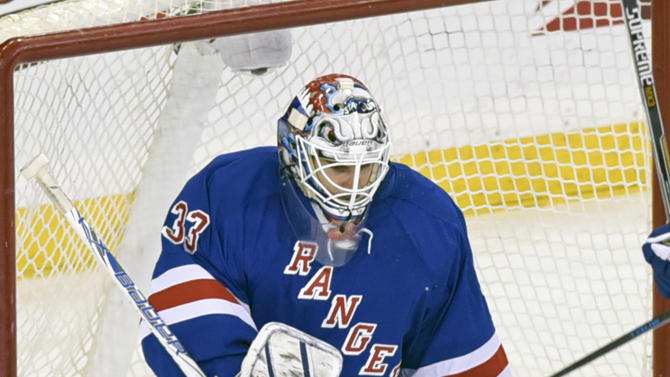 Rangers backup G Talbot shining through Lundqvist's absence