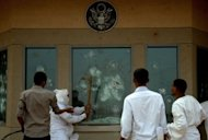 Sudanese protesters try to break into the US embassy in Khartoum during a protest against an amateur film mocking Islam. Internet rights champions were fearful that free speech online may be among the victims of violence spurred by an anti-Islam video posted to YouTube