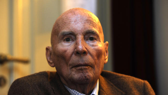 "FILE - In this Sept. 11, 2012 file picture German composer Hans Werner Henze  is photographed at the Saxony State opera in Dresden, Germany. German avant-garde composer Hans Werner Henze's publisher says he has died at 86.  Schott Music said that Henze died on Saturday Oct. 27, 2012 in Dresden. It didn't disclose the cause of death.  Henze's work over the decades straddled musical genres. He composed stage works, symphonies, concertos, chamber works and a requiem. He once said that ""many things wander from the concert hall to the stage and vice versa.""  Henze was born July 1, 1926 in Guetersloh in western Germany. After studying and starting his career in Germany, he went to live in Italy in 1953.  (AP Photo/ dapd/ Matthias Rietschel,File)"