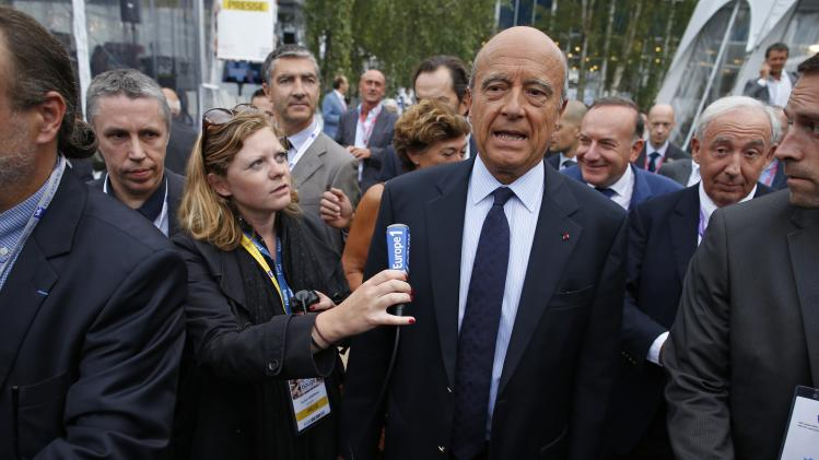 Former French prime minister Juppe attends the MEDEF summer forum on the campus of the HEC School of Management in Jouy-en-Josas