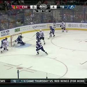 Ben Bishop Save on Andrew Shaw (18:16/3rd)