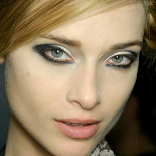 Emporio Armani: Backstage: A/W12: Kohl Eyes: Beauty Trend