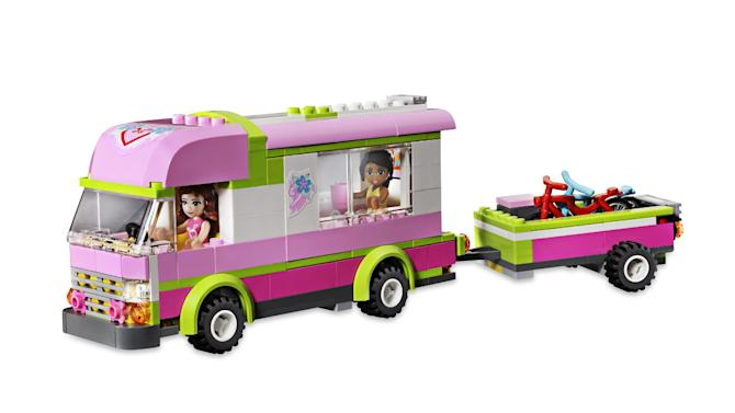 This product image released by Good Housekeeping shows a Lego Friends Adventure Camper. The toy has made it onto the Good Housekeeping's annual Best Toys list for 2012. Engineers reviewed hundreds of toys for safety and educational merits. But the true test comes from 140 kids, ages 3 to 13, who play with the top 135 new toys at the magazine's product-testing laboratory in New York. (AP Photo/Good Housekeeping)
