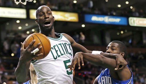 Pierce, Garnett lead Celtics over Magic 97-84