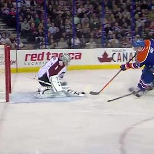 Taylor Hall scores on the breakaway