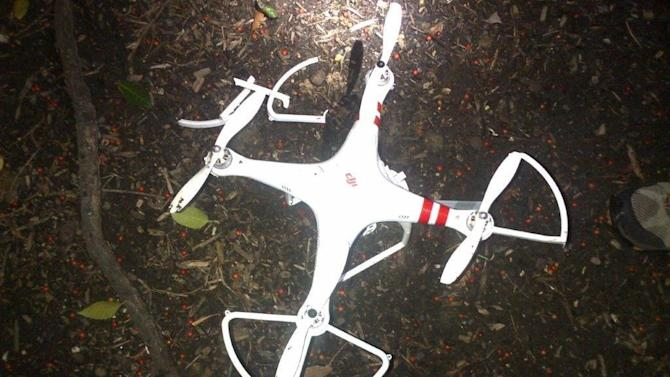 This photo obtained January 26, 2014 courtesy of the US Secret Service shows a smal drone that crashed on the White House grounds in Washington, DC
